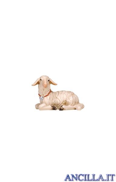 Agnello sdraiato testa a sinistra Rainell serie 22 cm