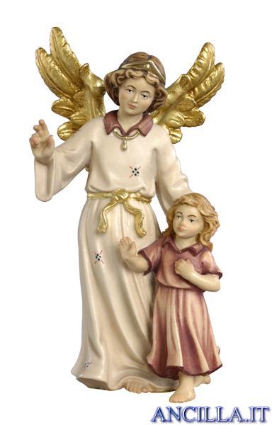 Angelo custode con bambina classico dipinto a olio