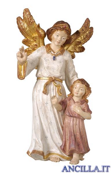 Angelo custode con bambina classico oro zecchino