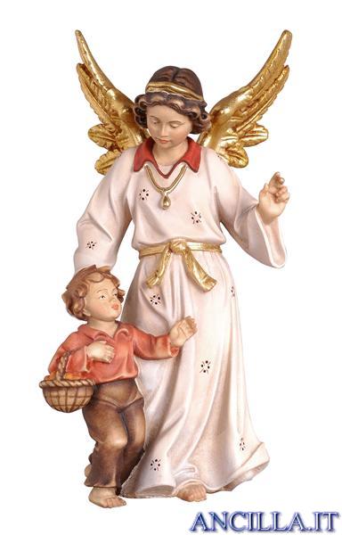 Angelo custode con bambino classico dipinto a olio
