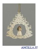 Albero di Natale con Angelo in piedi albero