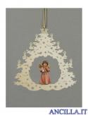 Albero di Natale con Angelo in piedi campanella