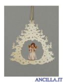Albero di Natale con Angelo in piedi candela