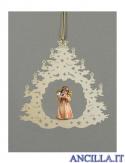 Albero di Natale con Angelo in piedi corno