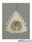Albero di Natale con Angelo in piedi flauto