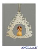 Albero di Natale con Angelo in piedi lanterna
