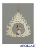 Albero di Natale con Angelo in piedi tromba