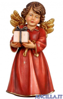Angelo campana in piedi con regalo