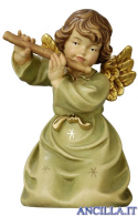 Angelo campana inginocchiato con flauto