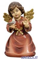Angelo campana inginocchiato con uccellino