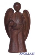 Angelo custode Amore bambina legno di noce