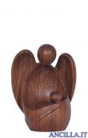 Angelo custode Amore seduto legno di noce