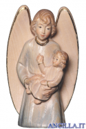 Angelo custode con bimbo (blu) Emily Collection