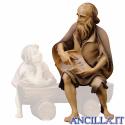 Anziano pastore narratore Ulrich serie 12 cm