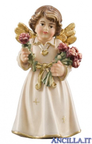 Angelo campana in piedi con rose