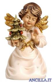 Angelo campana inginocchiato con albero