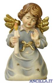 Angelo campana inginocchiato con candela
