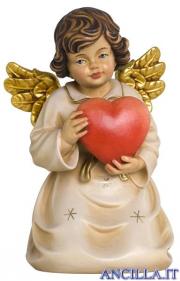 Angelo campana inginocchiato con cuore