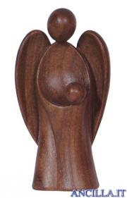 Angelo custode Amore bambino legno di noce