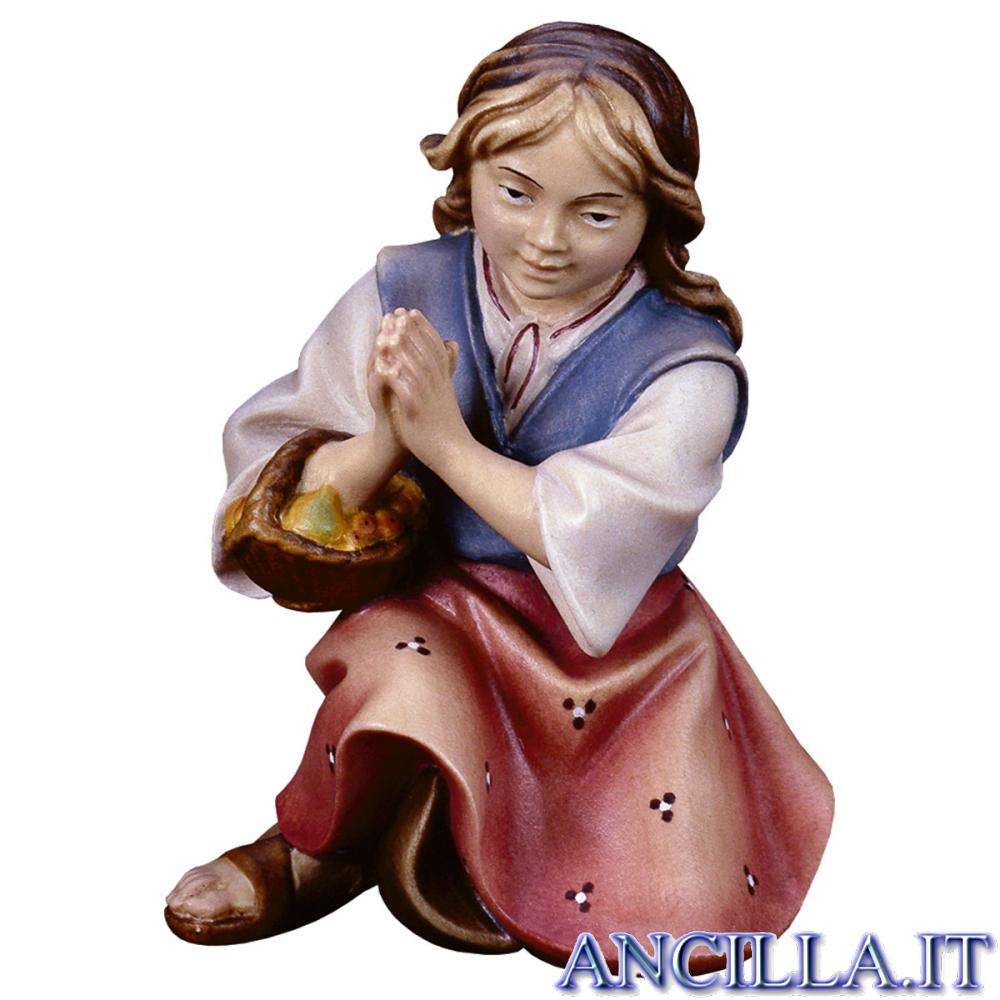 Bambina che prega inginocchiata Ulrich serie 10 cm