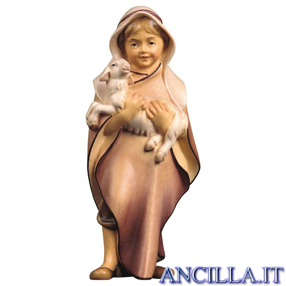 Bambino con agnello Cometa serie 12 cm