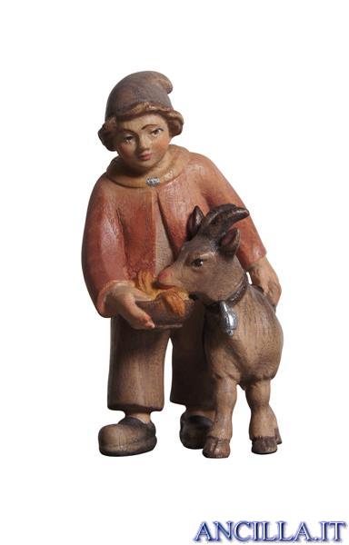 Bambino con capra Pema serie 12 cm