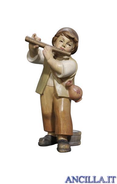 Bambino con flauto Pema serie 9 cm