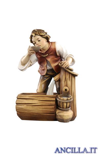 Bambino con fontana Kostner serie 12 cm