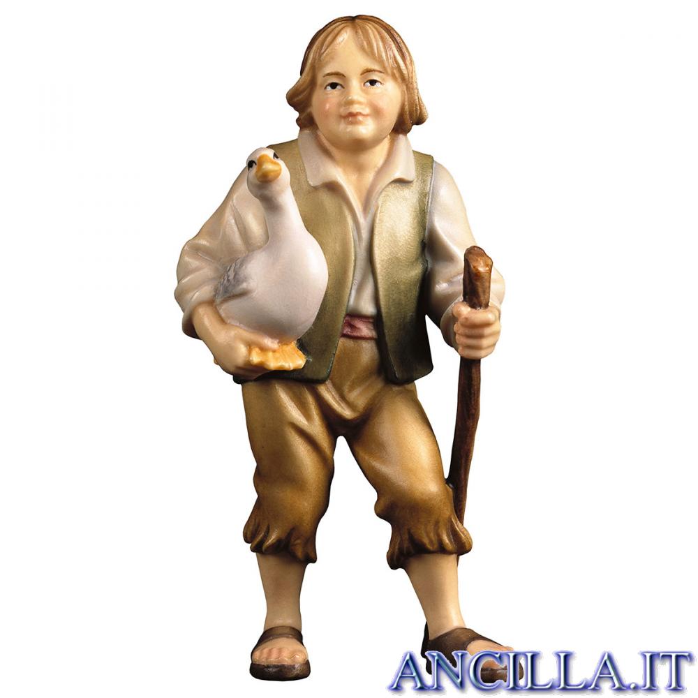 Bambino con oca Ulrich serie 15 cm
