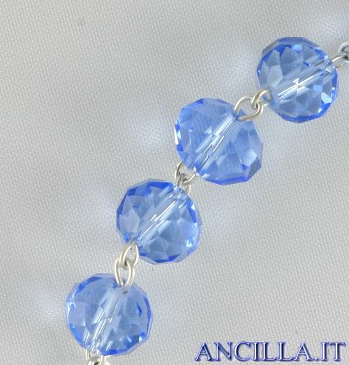 Bracciale decina in cristallo ovale 6x8 mm celeste