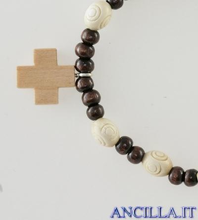 Bracciale elastico in legno lavorato