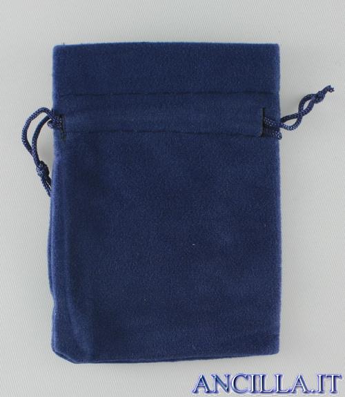 Busta portarosario blu