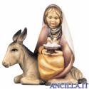 Bambina con colombe su asino Cometa serie 12 cm