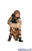 Bambino con agnello in braccio Mahlknecht serie 12 cm