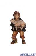 Bambino con agnello in braccio Rainell serie 15 cm