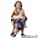 Bambino con agnello Ulrich serie 12 cm