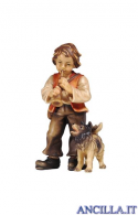 Bambino con cane Kostner serie 25 cm