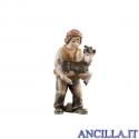 Bambino con capra in braccio Avvento serie 16 cm