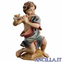 Bambino inginocchiato con flauto Ulrich serie 15 cm