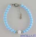 Bracciale Bungles azzurro e bianco