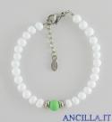 Bracciale Bungles bianco e verde
