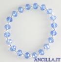 Bracciale elastico mezzo cristallo turchese e argento