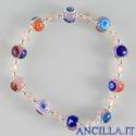 Bracciale elastico mosaico veneziano rosa