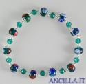 Bracciale elastico mosaico veneziano verde