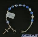 Bracciale in pietra dura Agata azzurra