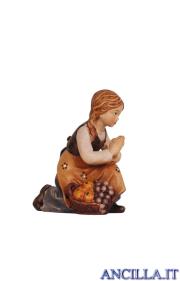 Bambina inginocchiata Mahlknecht serie 9,5 cm