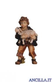 Bambino con agnello in braccio Rainell serie 9 cm