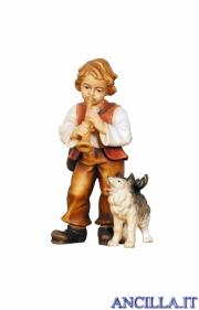 Bambino con cane Kostner serie 16 cm