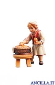 Bambino con cesto di pane Rainell serie 9 cm