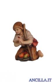 Bambino inginocchiato con bastone Mahlknecht serie 12 cm